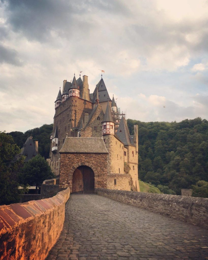 Eltz Castle in Germany pathway leading to entrance