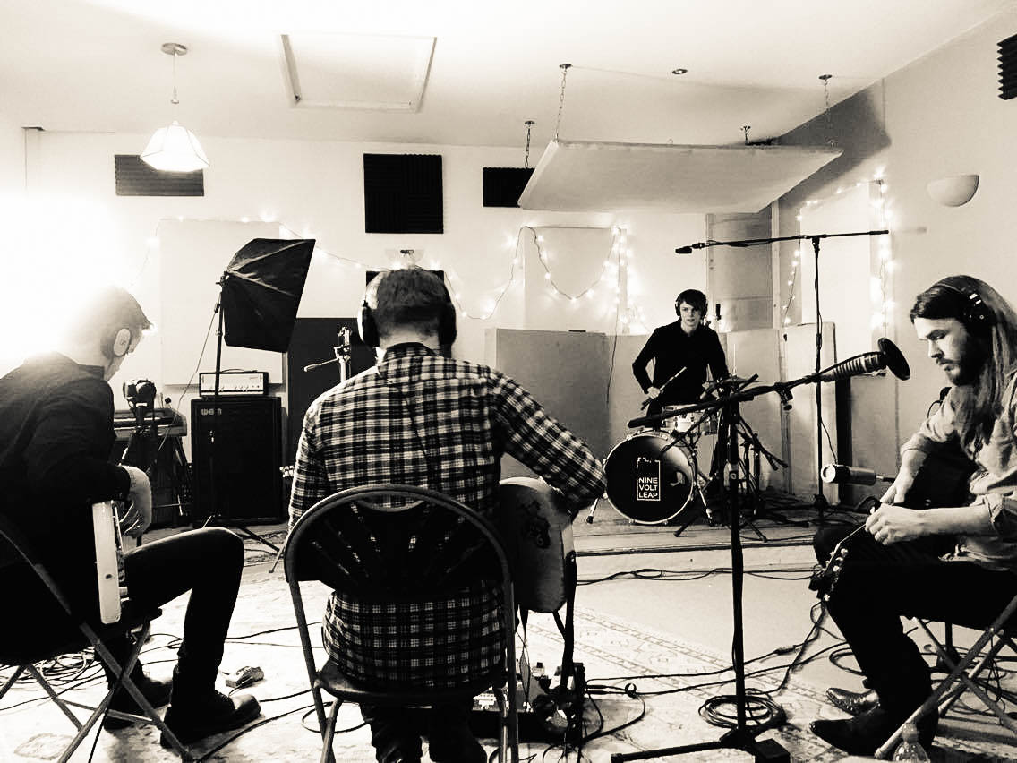 Pink Hotel live in session at Nine Volt Leap Studio